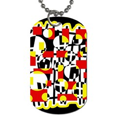 Red and yellow chaos Dog Tag (One Side)