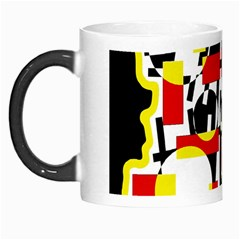 Red and yellow chaos Morph Mugs