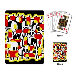 Red and yellow chaos Playing Card