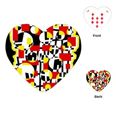Red and yellow chaos Playing Cards (Heart)