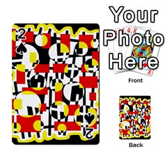 Red and yellow chaos Playing Cards 54 Designs