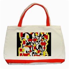 Red and yellow chaos Classic Tote Bag (Red)