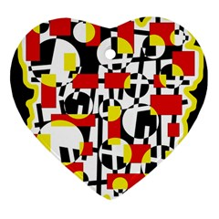 Red and yellow chaos Heart Ornament (2 Sides)