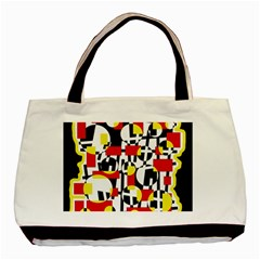 Red and yellow chaos Basic Tote Bag (Two Sides)