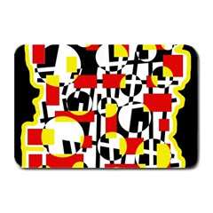 Red and yellow chaos Plate Mats