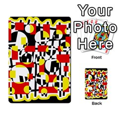 Red and yellow chaos Multi-purpose Cards (Rectangle)