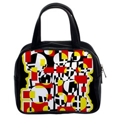 Red and yellow chaos Classic Handbags (2 Sides)
