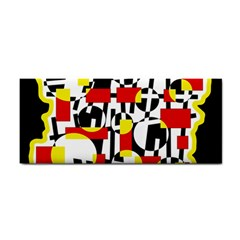 Red and yellow chaos Hand Towel