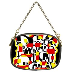 Red and yellow chaos Chain Purses (Two Sides)