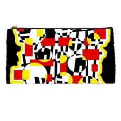Red and yellow chaos Pencil Cases