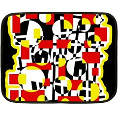 Red and yellow chaos Double Sided Fleece Blanket (Mini)