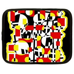 Red and yellow chaos Netbook Case (XL)