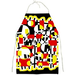 Red and yellow chaos Full Print Aprons