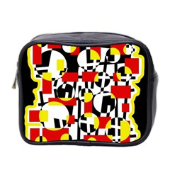 Red and yellow chaos Mini Toiletries Bag 2-Side