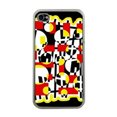 Red and yellow chaos Apple iPhone 4 Case (Clear)