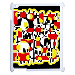 Red and yellow chaos Apple iPad 2 Case (White)