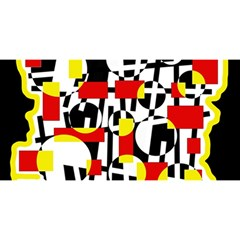Red and yellow chaos YOU ARE INVITED 3D Greeting Card (8x4)