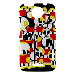 Red and yellow chaos HTC One X Hardshell Case