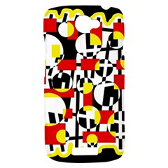 Red and yellow chaos HTC One S Hardshell Case