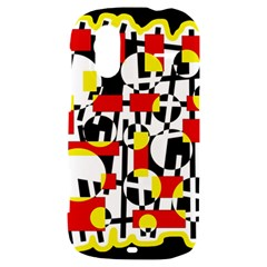 Red and yellow chaos HTC Amaze 4G Hardshell Case