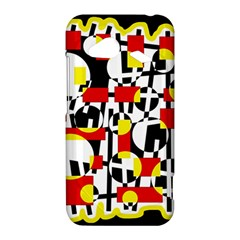 Red and yellow chaos HTC Droid Incredible 4G LTE Hardshell Case