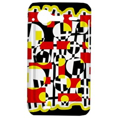 Red and yellow chaos HTC Incredible S Hardshell Case