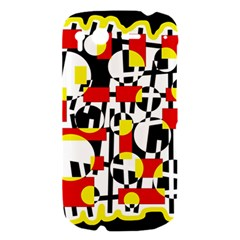 Red and yellow chaos HTC Desire S Hardshell Case