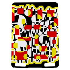 Red and yellow chaos Kindle Touch 3G