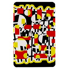 Red and yellow chaos Kindle Fire (1st Gen) Hardshell Case