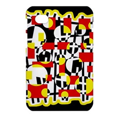 Red and yellow chaos Samsung Galaxy Tab 7  P1000 Hardshell Case