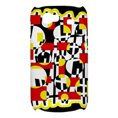 Red and yellow chaos Samsung Galaxy Nexus S i9020 Hardshell Case