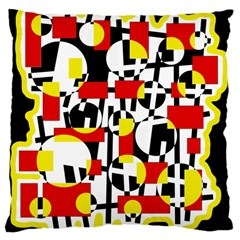 Red and yellow chaos Large Cushion Case (Two Sides)