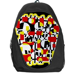 Red and yellow chaos Backpack Bag