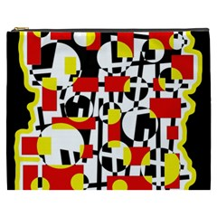 Red and yellow chaos Cosmetic Bag (XXXL)
