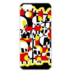 Red and yellow chaos Apple iPhone 5 Seamless Case (White)