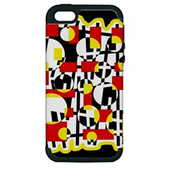 Red and yellow chaos Apple iPhone 5 Hardshell Case (PC+Silicone)