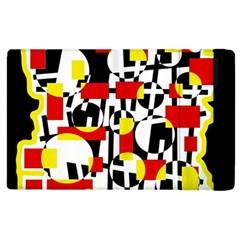 Red and yellow chaos Apple iPad 3/4 Flip Case