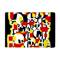 Red and yellow chaos Apple iPad Mini Flip Case