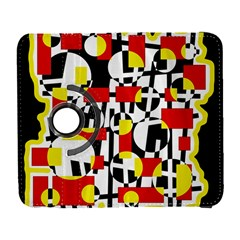 Red and yellow chaos Samsung Galaxy S  III Flip 360 Case