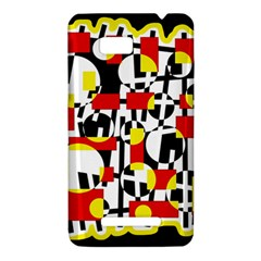 Red and yellow chaos HTC One SU T528W Hardshell Case