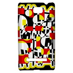Red and yellow chaos HTC 8S Hardshell Case