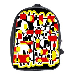 Red and yellow chaos School Bags (XL)
