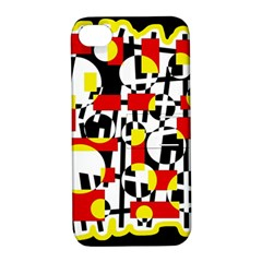 Red and yellow chaos Apple iPhone 4/4S Hardshell Case with Stand
