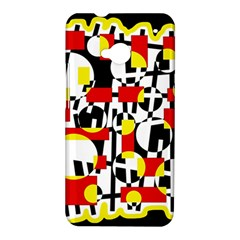 Red and yellow chaos HTC One M7 Hardshell Case