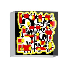 Red and yellow chaos 4 x 4  Acrylic Photo Blocks