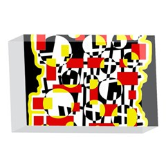 Red and yellow chaos 4 x 6  Acrylic Photo Blocks
