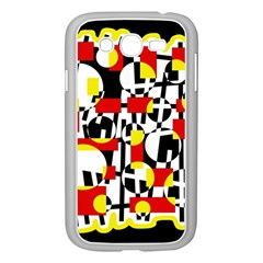 Red and yellow chaos Samsung Galaxy Grand DUOS I9082 Case (White)