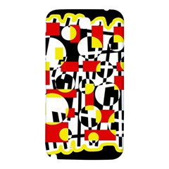 Red and yellow chaos Samsung Note 2 N7100 Hardshell Back Case