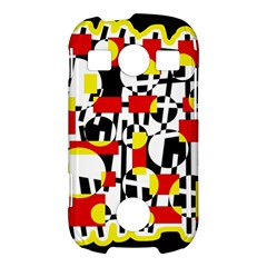 Red and yellow chaos Samsung Galaxy S7710 Xcover 2 Hardshell Case