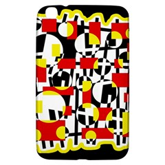 Red and yellow chaos Samsung Galaxy Tab 3 (8 ) T3100 Hardshell Case